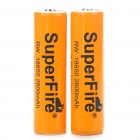 "SuperFire 18650 3.7V ""2600mAh"" Batteries with Protection Board (2-Piece Pack)"