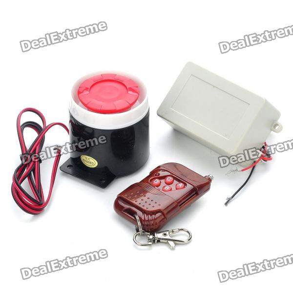 Фото Smart Anti-Theft Security Alarm w/ Remote Controller for Motorcycle 110db loud security alarm siren horn speaker buzzer black red dc 6 16v