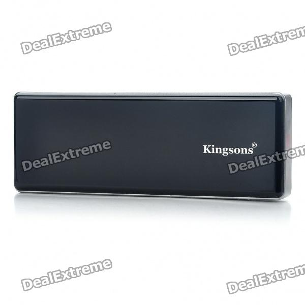 KINGSONS USB aufladbare 5200mAh Emergency Power Battery Pack w / Adapter - Schwarz