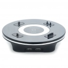 KINGSONS Unique UFO Style Charging Cradle w/ Dual USB Ports/Adapters for Cell Phone (100~240V)