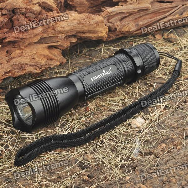 FANDFIRE F101 5-Mode White 320LM LED Memory Flashlight w/ CREE XPE R5 / Strap (1 x 18650/2 x 16340) godfire c6 t60 led 5 mode 600lm white flashlight w strap black 1 x 18650