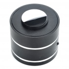 Cool Rechargeable Aluminum Alloy Vibration Speaker with TF Slot - Black