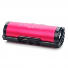 Portable Sports USB Rechargeable MP3 Player Speakers w/ USB/TF/3.5mm Jack/FM - Red + Black