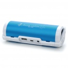 Tragbare Sports USB aufladbare MP3-Player Lautsprecher w / USB/TF/3.5mm Jack / FM - Blue + White