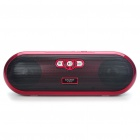 Stylish Portable Mini Rechargeable MP3 Music Speaker with USB/AUX/SD/MMC - Black + Red