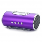 "1.7"" LED Portable Mini Rechargeable MP3 Music Speaker with FM/USB/AUX/TF - Purple"