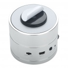 Stylish Rechargeable Resonance Speaker with FM/TF/Remote Controller - Silver