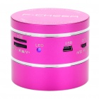 Stylish Rechargeable Resonance Speaker with FM/TF/Remote Controller - Deep Pink