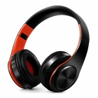 Bluetooth Wireless Stereo Sport Headphone with Mic - Black, Orange