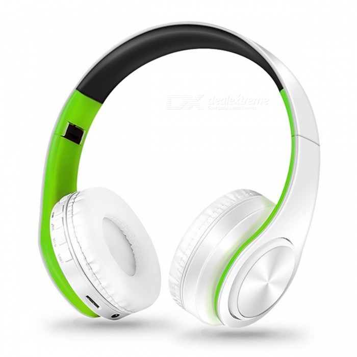 Bluetooth Wireless Stereo Sport Headphone with Mic - White, GreenHeadphones<br>Form  ColorWhite + GreenBrandOthers,N/AMaterialPlasticQuantity1 setConnectionBluetoothBluetooth VersionBluetooth V4.0Operating Range10MConnects Two Phones SimultaneouslyYesHeadphone StyleBilateral,HeadbandWaterproof LevelOthers,N/AApplicable ProductsUniversalHeadphone FeaturesPhone Control,Long Time Standby,Noise-Canceling,Volume Control,With Microphone,Portable,For Sports &amp; ExerciseSupport Memory CardYesMemory Card SlotStandard TF CardSupport Apt-XYesSensitivity84dBFrequency Response20-20000HzImpedance32 ohmBattery TypeLi-ion batteryBuilt-in Battery Capacity 400 mAhStandby Time250 hoursTalk Time10 hoursPacking List1 x Headphone<br>
