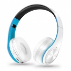Bluetooth Wireless Stereo Sport Headphone with Mic - White, Blue