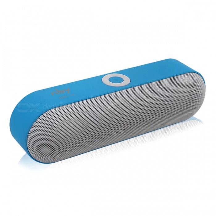 NBY-18 Mini Portable Wireless Bluetooth Speaker Support TF USB - BlueBluetooth Speakers<br>Form  ColorBlueModelNBY-18MaterialPlasticQuantity1 pieceShade Of ColorBlueBluetooth HandsfreeYesBluetooth VersionBluetooth V3.0Operating Range10MInterface3.5mm,USB 2.0MicrophoneYesSensitivity80dbFrequency Response85hz~20KHzApplicable ProductsUniversalSupports Card TypeMicroSD (TF)Built-in Battery Capacity 1200 mAhBattery TypeLi-ion batteryTalk Time8-10 hoursPacking List1 x Speaker1 x Audio Cable1 x Charging cable1 x User Manual<br>