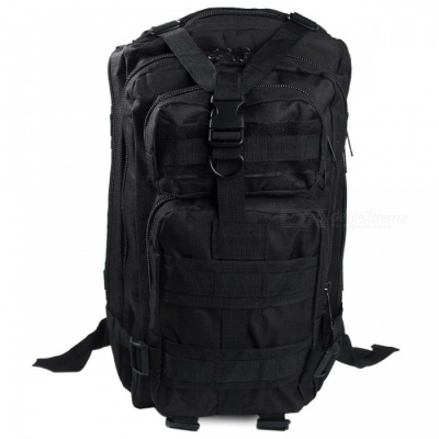 25L Unisex Outdoor Military Army Tactical Backpack - Black