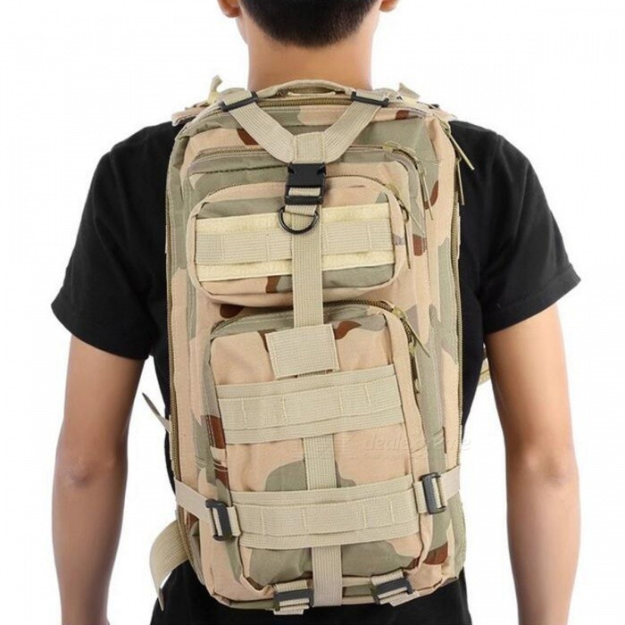 4a6f0db39fc 25L Unisex Outdoor Military Army Tactical Rugzak-wildernis Camouflage