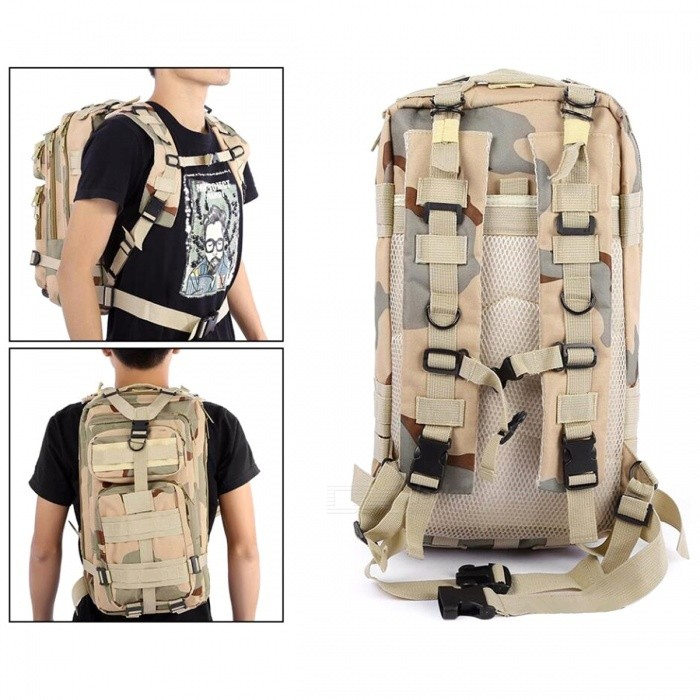 8f9037589e0 ... 25L Unisex Outdoor Military Army Tactical Rugzak-wildernis Camouflage