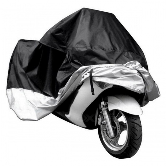 Dustproof Waterproof UV Protector Bike Motorcycle Cover - Grey (L)Others<br>Form  ColorBlack + Gray (L) ModelBlack+Gray-LQuantity1 pieceMaterial190T polyester taffeta PU platedWaterproof FunctionYesPacking List1 x Motorcycle Cover<br>