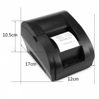 Mini 58mm Low Noise POS Empfang Thermal Drucker mit USB Port - Schwarz