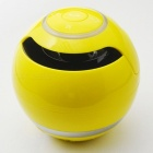 Round Shape Portable Mini Bluetooth Speaker with Microphone - Yellow