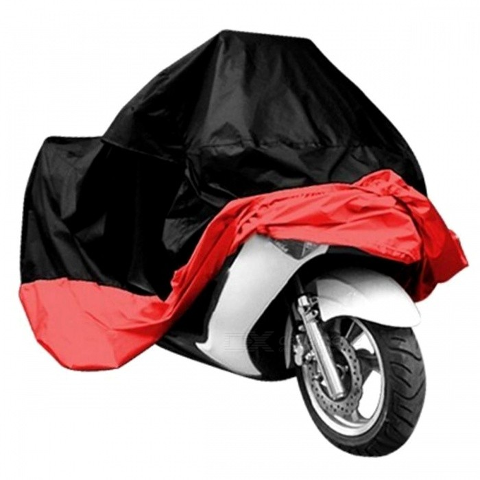 Dustproof Waterproof UV Protector Bike Motorcycle Cover - Red (4XL)Others<br>Form  ColorBlack + Red (4XL)ModelBlack+Red-4XLQuantity1 pieceMaterial190T polyester taffeta PU platedWaterproof FunctionYesPacking List1 x Motorcycle Cover<br>