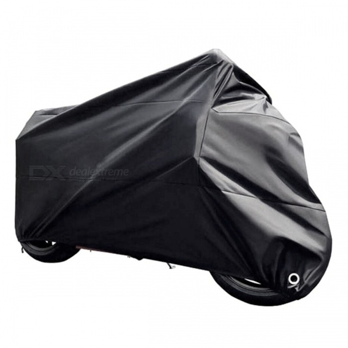 Dustproof Waterproof UV Protector Bike Motorcycle Cover - Black (XL)Others<br>Form  ColorBlack (XL)ModelBlack-XLQuantity1 pieceMaterial190T polyester taffeta PU platedWaterproof FunctionYesPacking List1 x Motorcycle Cover<br>