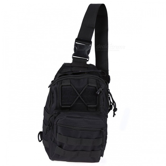 Durable Outdoor Shoulder Bag, Military Tactical Backpack - Black