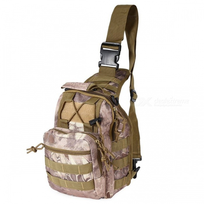 Durable Shoulder Bag, Military Tactical Backpack - Wasteland PythonForm  ColorWasteland PythonBrandOthers,Others,N/AModelN/AQuantity1 pieceMaterial600D Oxford FabricTypeHiking &amp; CampingGear Capacity5 LCapacity Range0L~20LRaincover includedNoBest UseRunning,Climbing,Family &amp; car camping,Mountaineering,Travel,CyclingTypeTactical BackpacksPacking List1 x Bag<br>