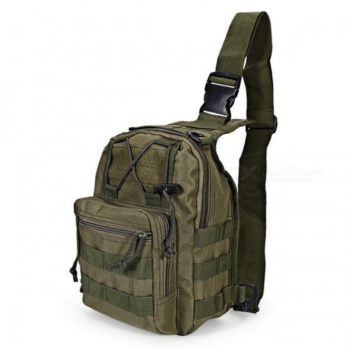 Durable Outdoor Shoulder Bag, Military Tactical Backpack - Army GreenForm  ColorArmy GreenBrandOthers,Others,N/AModelN/AQuantity1 pieceMaterial600D Oxford FabricTypeHiking &amp; CampingGear Capacity5 LCapacity Range0L~20LRaincover includedNoBest UseRunning,Climbing,Family &amp; car camping,Mountaineering,Travel,CyclingTypeTactical BackpacksPacking List1 x Bag<br>