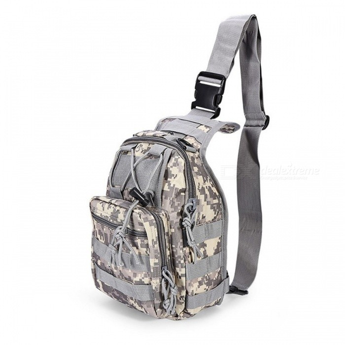 Durable Shoulder Bag, Military Tactical Backpack - ACU CamouflageForm  ColorACUBrandOthers,Others,N/AModelN/AQuantity1 pieceMaterial600D Oxford FabricTypeHiking &amp; CampingGear Capacity5 LCapacity Range0L~20LRaincover includedNoBest UseRunning,Climbing,Family &amp; car camping,Mountaineering,Travel,CyclingTypeTactical BackpacksPacking List1 x Bag<br>