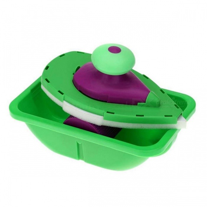 Household Point, Paint Roller and Tray SetOther Tools<br>Form  ColorGreen + PurpleQuantity1 pieceMaterialPlastic + SpongePacking List1 x Paint Roller Set<br>
