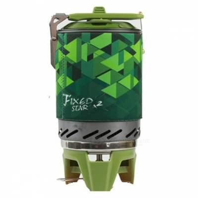 Fire-Maple X2 1L One-Piece Camping Stove Heat Exchanger Pot - Green
