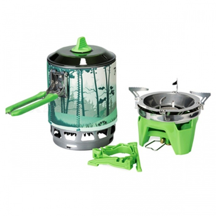 Fire-Maple X3 0.8L One-Piece Camping Stove Heat Exchanger Pot - GreenCooking Stove And Hardware<br>Form  ColorGreen (X3 0.8L)ModelX3Quantity1 setMaterialStainless SteelBest UseFamily &amp; car camping,CampingPower2200 WTypeCamp StovesPacking List1 x Stove1 x Heat collecting pot1 x Pot holder1 x Pot cover1 x Gas can holder<br>