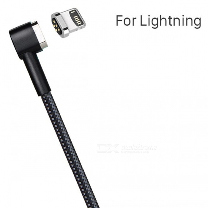 HOCO Lightning to USB Magnetic Charging Cable for IPHONE - BlackCables<br>Form  ColorBlack (Lightning)ModelU20MaterialAluminum alloy + TPEQuantity1 pieceCompatible ModelsIPHONE 5 and higher , ipad 4 and higher...Cable Length100 cmConnectorLightningTransmission Rate2.4ACertificationMFIPacking List1 x Cable<br>
