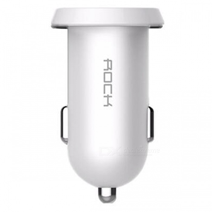 ROCK Ditor 2.4A Quick Charge Dual USB Car Charger - WhiteCar Power Chargers<br>Form  ColorWhiteModelRCC0108Quantity1 pieceMaterialABSShade Of ColorWhiteInput Voltage12~24 VOutput Voltage5 VOutput Current2.4 AInterfaceDual USB outputApplicationCarCertificationCCC, FCC, CE, RoHSPacking List1 x Car Charger<br>