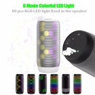 BQ-615 Colorful Waterproof LED Portable Bluetooth Speaker - White