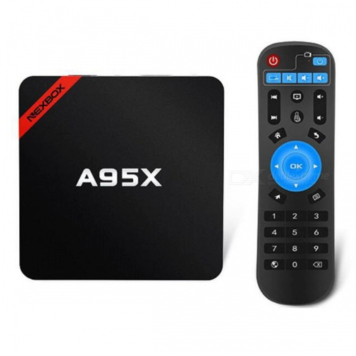A95X Smart Android 6.0 TV Box with 2GB RAM 16GB ROM - Black (US Plug)