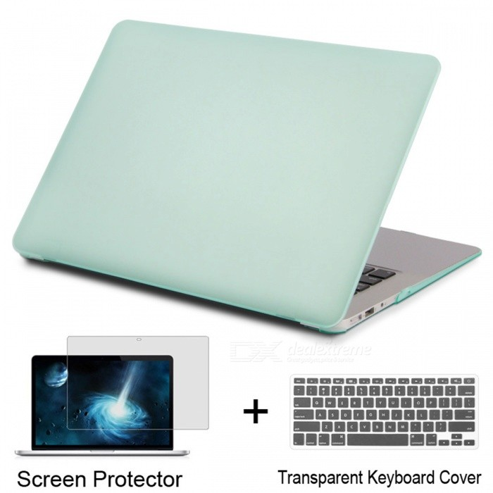 Laptop Case for Apple MacBook Pro 13 Retina - Matte GreenNetbook&amp;Laptop Cases<br>Form  ColorMatte Green (Pro 13 Retina)Quantity1 setShade Of ColorGreenMaterialPVCCompatible BrandAPPLECompatible Size13.3 inchPacking List1 x Laptop case1 x Transparent keyboard cover (gift)1 x Screen protector (gift)<br>