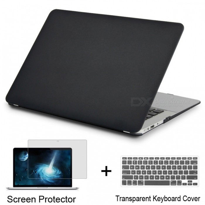 Laptop Case for Apple MacBook Pro 13 Retina - Matte BlackNetbook&amp;Laptop Cases<br>Form  ColorMatte Black (Pro 13 Retina)Quantity1 setShade Of ColorBlackMaterialPVCCompatible BrandAPPLECompatible Size13.3 inchPacking List1 x Laptop case1 x Transparent keyboard cover (gift)1 x Screen protector (gift)<br>