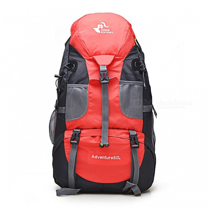 50L Outdoor Camping Bag Backpack - RedForm  ColorRedBrandOthers,Others,N/AModelN/AQuantity1 pieceMaterialNylonTypeHiking &amp; CampingGear Capacity50 LCapacity Range40L~60LRaincover includedNoBest UseClimbing,Family &amp; car camping,Mountaineering,TravelPacking List1 x Backpack<br>