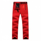 Thick Warm Fleece Softshell Pants for Women - Red