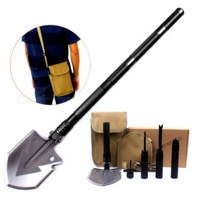 Professional Military Tactical Multifunction Shovel - Black