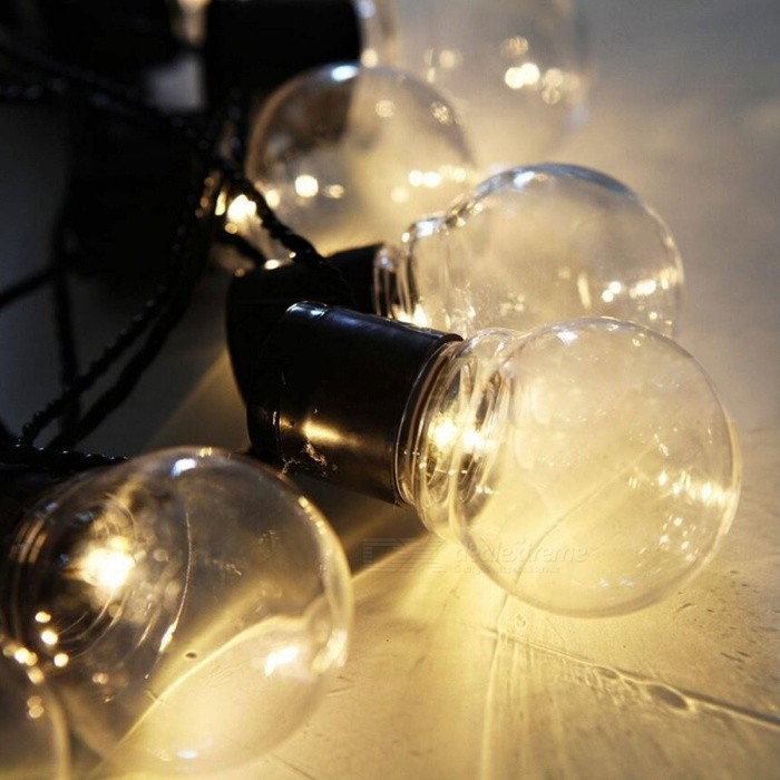 Led Shop Lights Connectable: 20-LED G45 Globe Connectable Ball String Lamp