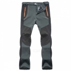 Winter Men Hiking Pants Outdoor Softshell Trousers - Dark Grey