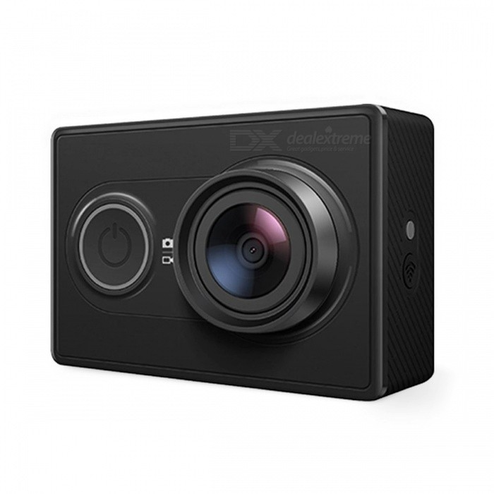 International Version XiaoYi Action Camera - Black (Travel Edition)Sport Cameras<br>Form  ColorBlack (Travel Edition)Shade Of ColorBlackMaterialPlasticQuantity1 setImage SensorCMOSImage Sensor SizeOthers,1/2.3 inchesAnti-ShakeYesFocal Distance2.73±5%mm cmFocusing RangeN/AApertureF2.8Wide Angle155°Effective Pixels16 MPImagesJPEGStill Image Resolution4608X3456VideoMP4Video Resolution1080p@60fps,1080p@48fps, 1080p@30fps,1080p@24fps 960@60fps, 960@48fps,720p@120fps,720p@60fps, 720p@48fps, 480p@240fpsVideo Frame Rate30,60Cycle RecordYesISONoExposure CompensationOthers,N/ASupports Card TypeTFSupports Max. Capacity64 GBBuilt-in Memory / RAMNoOutput InterfaceMicro USBLCD ScreenNoBattery Measured Capacity 990 mAhNominal Capacity990 mAhBattery TypeLi-ion batteryBattery included or notYesBattery Quantity1 pieceVoltage3.7 VWater ResistantNOSupported LanguagesEnglishPacking List1 x Xiaomi Yi Camera1 x Original battery 1 x USB Cable 1 x Handheld Selfie Original Monopod1 x Bluetooth Remote Original Controller<br>