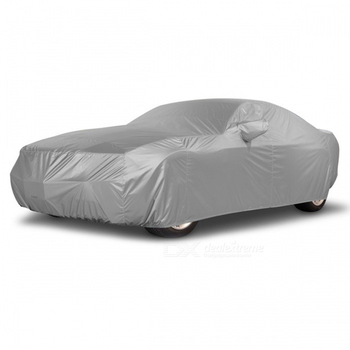 Sun UV Snow Dust Resistant Protective Full Car Cover (L)Other Exterior<br>Form  ColorLModel-Quantity1 pieceMaterialNon-Woven Polypropylene FabricCompatible MakeUniversalPacking List1 x Car Cover<br>