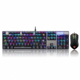 Motospeed CK888 USB Wired RGB Backlight Mechanical Keyboard + Mouse