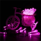Vattendroppar Stil Rosa Ljus LED Solar Fairy String Light (6m)