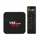 V88 Plus Android 6.0 RK3229 Quad-Core Smart TV Box - Black (US Plug)