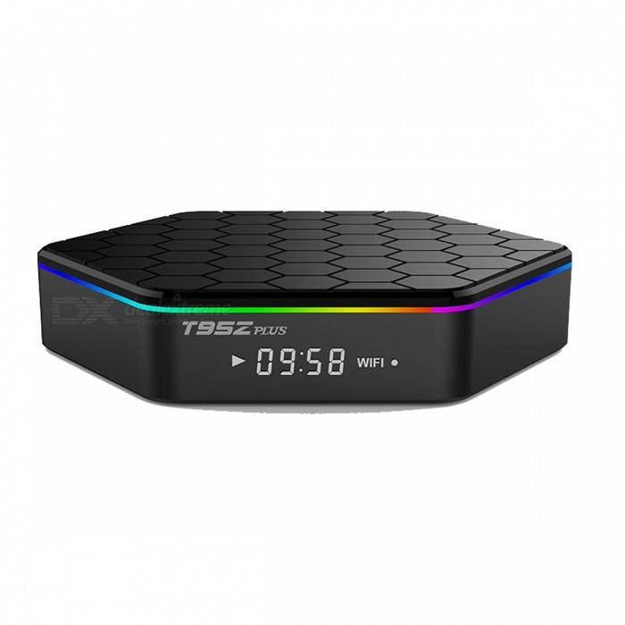 T95Z Plus 3GB 32GB Android 7.1 Amlogic S912 TV Box - Black (US Plug)Smart TV Players<br>Form  ColorBlackBuilt-in Memory / RAM3GBStorage32GBPower AdapterUS PlugModelT95Z PlusQuantity1 pieceMaterialPlasticShade Of ColorBlackOperating SystemOthers,Android 7.1ChipsetAmlogic S912CPUCortex-A5Processor FrequencyAmlogic S912 Octa-core cortex-A53   frequency  2.0GGPUMali-T820MP3Menu LanguageEnglish,Others,French/German/Spanish/Italian/ etc multilateral languagesRAM/Memory TypeDDR3 SDRAMMax Extended Capacity32GBSupports Card TypeSDWi-Fi2.4G/5G Wi-Fi Support IEEE 802.11 b/g/n/acBluetooth VersionBluetooth V4.03G FunctionNoWireless Keyboard/Mouse2.4Ghz/5GhzAudio FormatsOthers,MP3/WMA/AAC/WAV/OGG/AC3/DDP/TrueHD/DTS/DTS/HD/FLAC/APEVideo FormatsOthers,Avi/Rm/Rmvb/Ts/Vob/Mkv/Mov/ISO/wmv/asf/flv/dat/mpg/mpegAudio CodecsOthers,MP3/WMA/AAC/WAV/OGG/AC3/DDP/TrueHD/DTS/DTS/HD/FLAC/APEVideo CodecsMPEG-1,MPEG-2,MPEG-4,H.264,H.265Picture FormatsOthers,HD JPEG/BMP/GIF/PNG/TIFFSubtitle FormatsOthers,/Output Resolution4KHDMI2.0USBUSB 2.0Other Interface1* HDMI output 2.0 4K*2K @ 60Hz, 2* High speed USB 2.0,support U DISK and USB HDD, 1* TF CARD Support 1~32GB, 1* 3.5 Phone out CVBS&amp;L/R output, 1* RJ45 LAN Ethernet 10M/100M/1000MPower Supply100~240VPacking List1 x TV Box1 x IR remote controller1 x HDMI cable1 x US Plug adapter1 x English user manual<br>