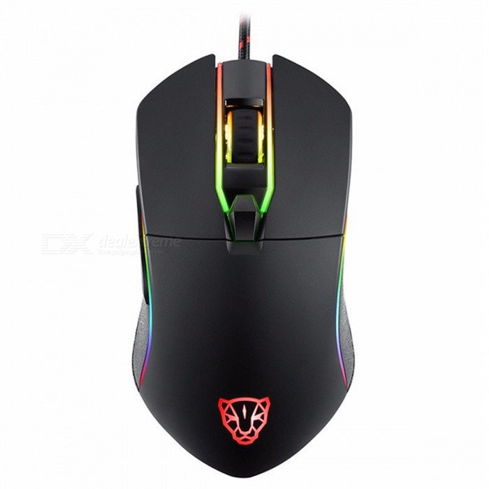 Motospeed V30 3500DPI Backlit USB Wired Gaming Mouse - BlackGaming Mouse<br>Form  ColorBlackModelV30Quantity1 pieceMaterialABSShade Of ColorBlackInterfaceUSB 2.0Wireless or WiredWiredChipsetAvago PMW3320Optical TypeLEDResolution500/750/1000/1500/2000/3500DPIMax Acceleration20GPolling Rate1000HZWeight Cartridge10gButton life5000,000 timesPowered ByUSBBattery included or notNoSupports SystemOthers,PCCable Length1.8 mTypeGaming,ErgonomicCertificationCE,FCCPacking List1 x Motospeed V30 Gaming Mouse<br>