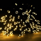 12m 100-LED Solar Powered Warm White LED Fairy String Light